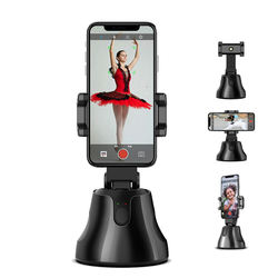 360 Rotation smart gimbal stabilizer Auto Tracking vlog shoot Mobile Phone Holder with auto making photo and video