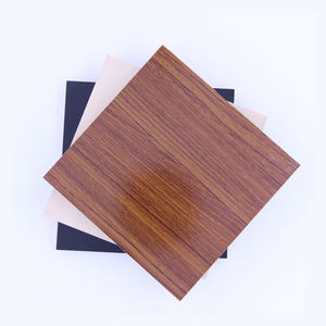High quality 40ft*80ft double-side wood grain color melamine surface MDF panels