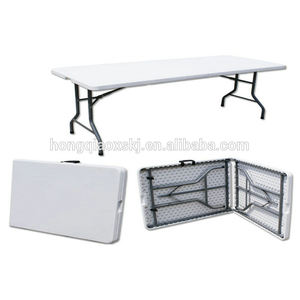 lifetime style outdoor plastic folding table/economical design outdoor picnic table/6ft 1.8m gloss surface white desk