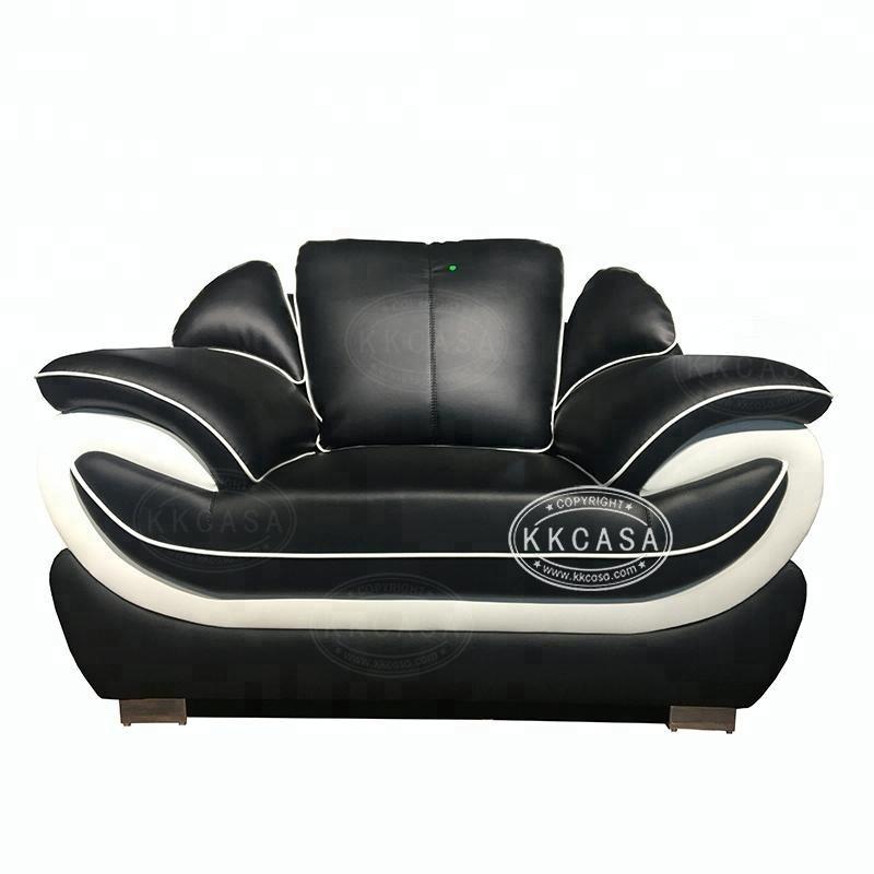 Excelente italiano de cuero cómodos muebles de casa habitación sofá moderno