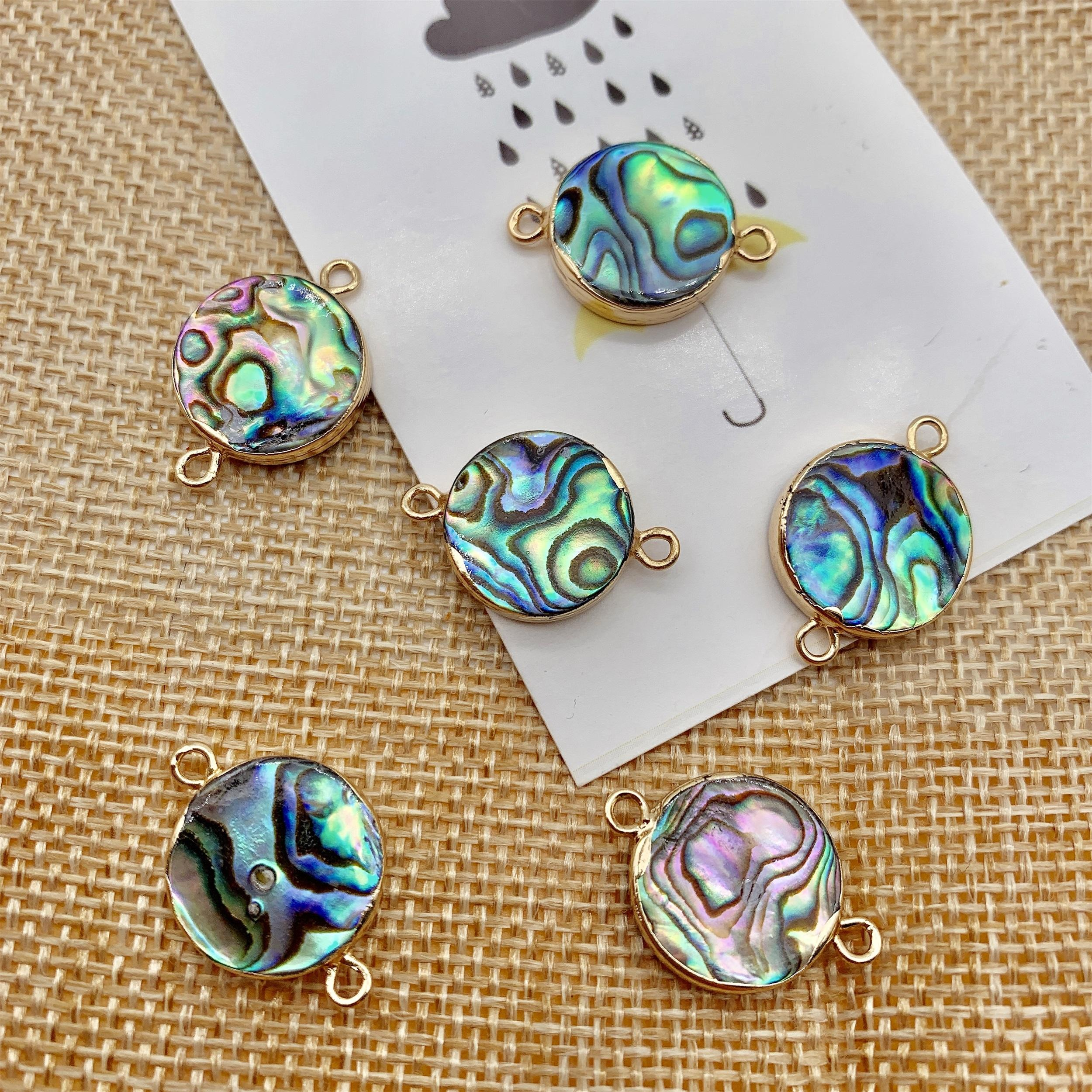 round flat jump ring jewelry shells sea shell natural button abalone shell for pendants