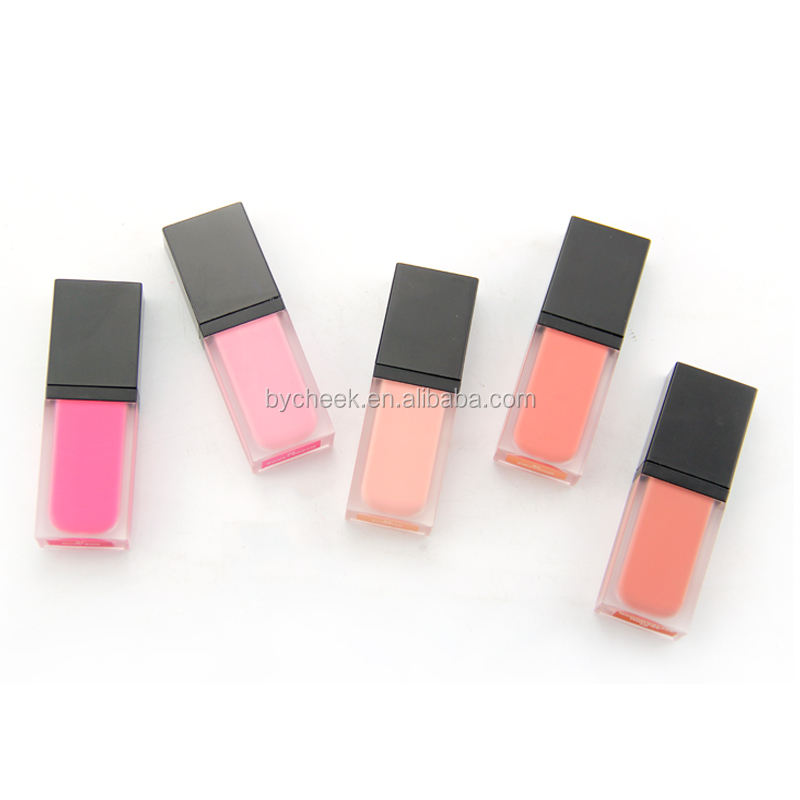 You logo makeup private label high pigmented matte makeup blush cosmetics liquid lip and cheek tint lipsgloss blusher