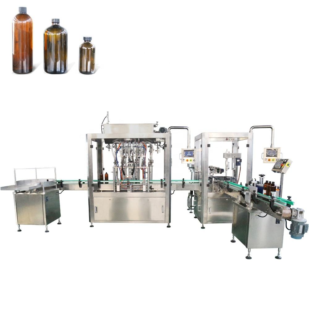Electric liquid filler High accuracy Small Dose e liquid essential oil perfume 2 head/4 heads filling machine China