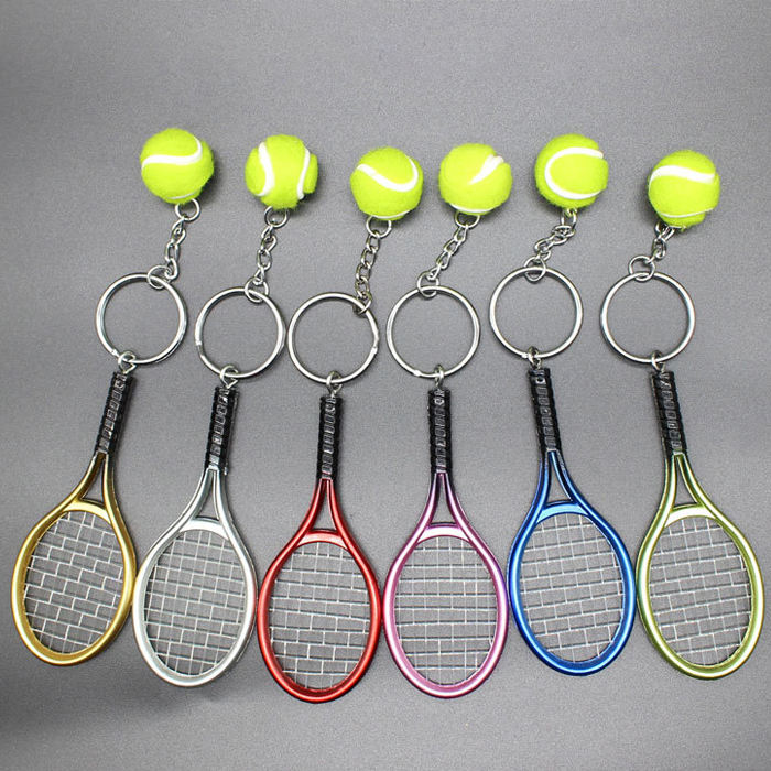 Wholesale Gift Sports Style Metal Alloy Tennis Ball Keychain
