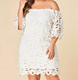 Clothes women vestidos sexy off shoulder plus size lace dress