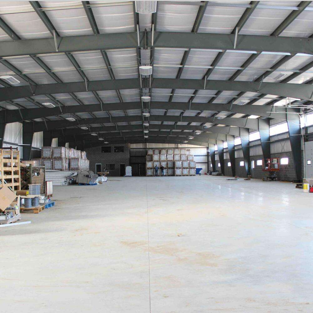 steel frame warehouse structure / steel building prefab warehouse for sale