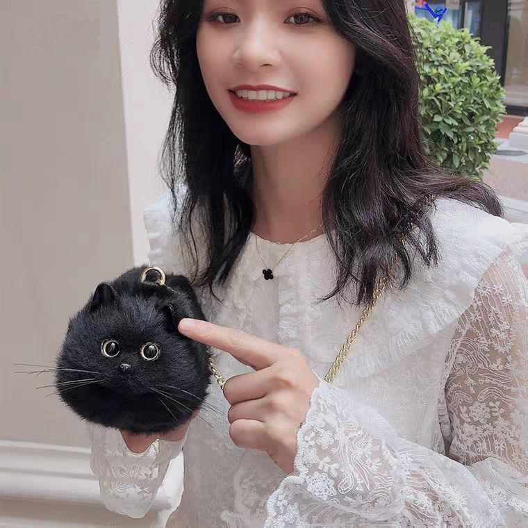 Süper sıcak satış el işi simülasyon siyah kedi parti çanta moda akşam yaratıcı omuz çantalar ve çanta hediye vermek için