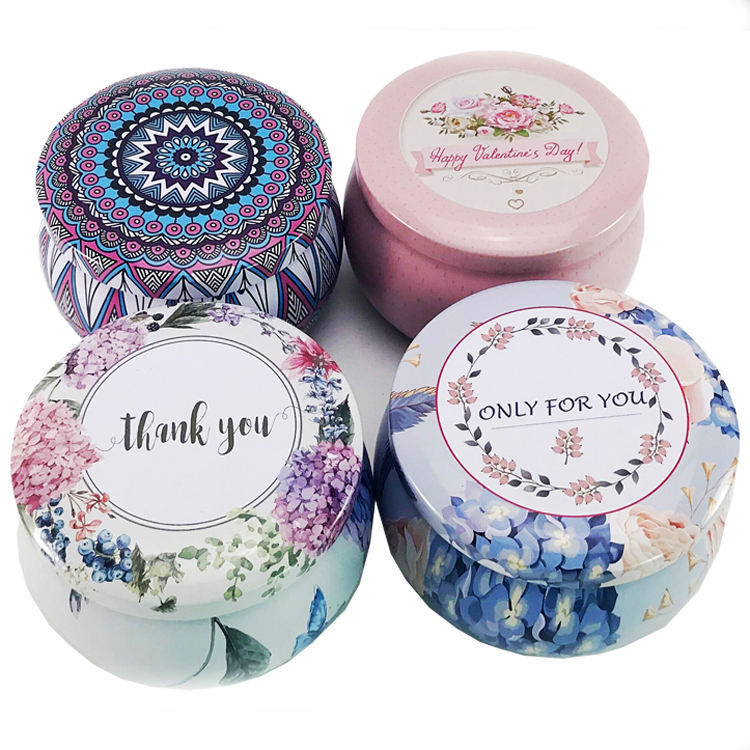 Custom Food Grade Round Metal Small Tea Candy Gift Tin Can