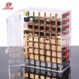 Klar Acryl Desktop Staub-proof Make-Up Organizer Lip Gloss Stehen Lippenstifte Veranstalter Box Make-Up Lagerung Box Lippenstift Halter