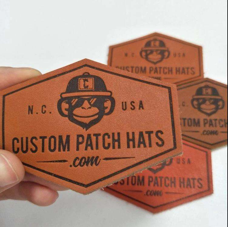 Manufacturer Custom leather patch logo Logo Embossed Leather Patches for Handbag,OEM Leather Labels For Hat/Clothing