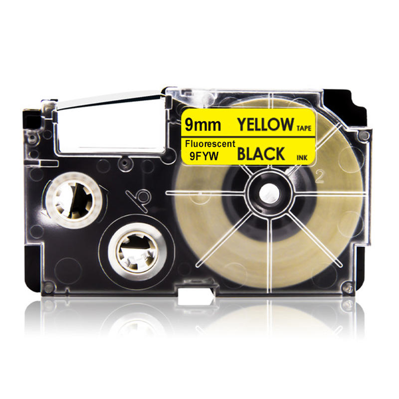Fluorescent Compatible 9mm color label tape 9FGN 9FPK 9FYW for Casios EZ series label printers