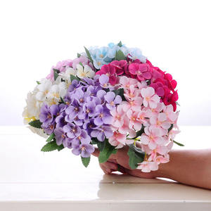 Artificial Decoration Mini Bunch of Flowers Hydrangea bouquet Wedding Arrangement Begonia Flower