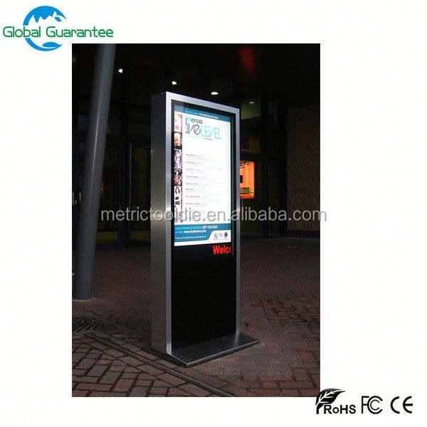 Stand-alone CE ROSH IP65 ad alta luminosità esterna hd zaino pubblicità display a cristalli liquidi