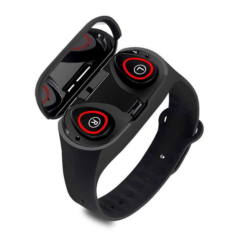 M1 new 2 in 1 Smart Watch with call wireless earphone Handsfree Earbuds Smart Wristband Watch Fitness Tracker for iOS Android