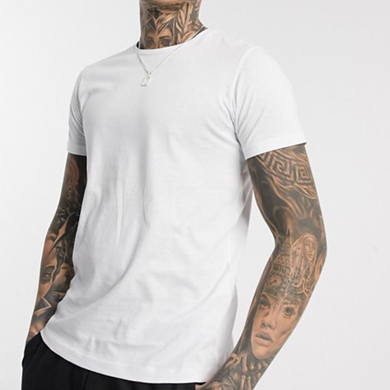 OEM Custom O-Neck 100% Cotton Tshirt White Plain Casual Men Tshirt