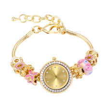 Retro Minimalism Antique Silver Plated Ladies Watch Fashion Elegant Charm Bracelets Bangles Colorful Chamilia Watches For Women