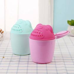 Baby Kids Cartoon Bear Bathing Cup Baby Shower Shampoo Cup Bailer Baby Shower Water Spoon Bath Wash Cup
