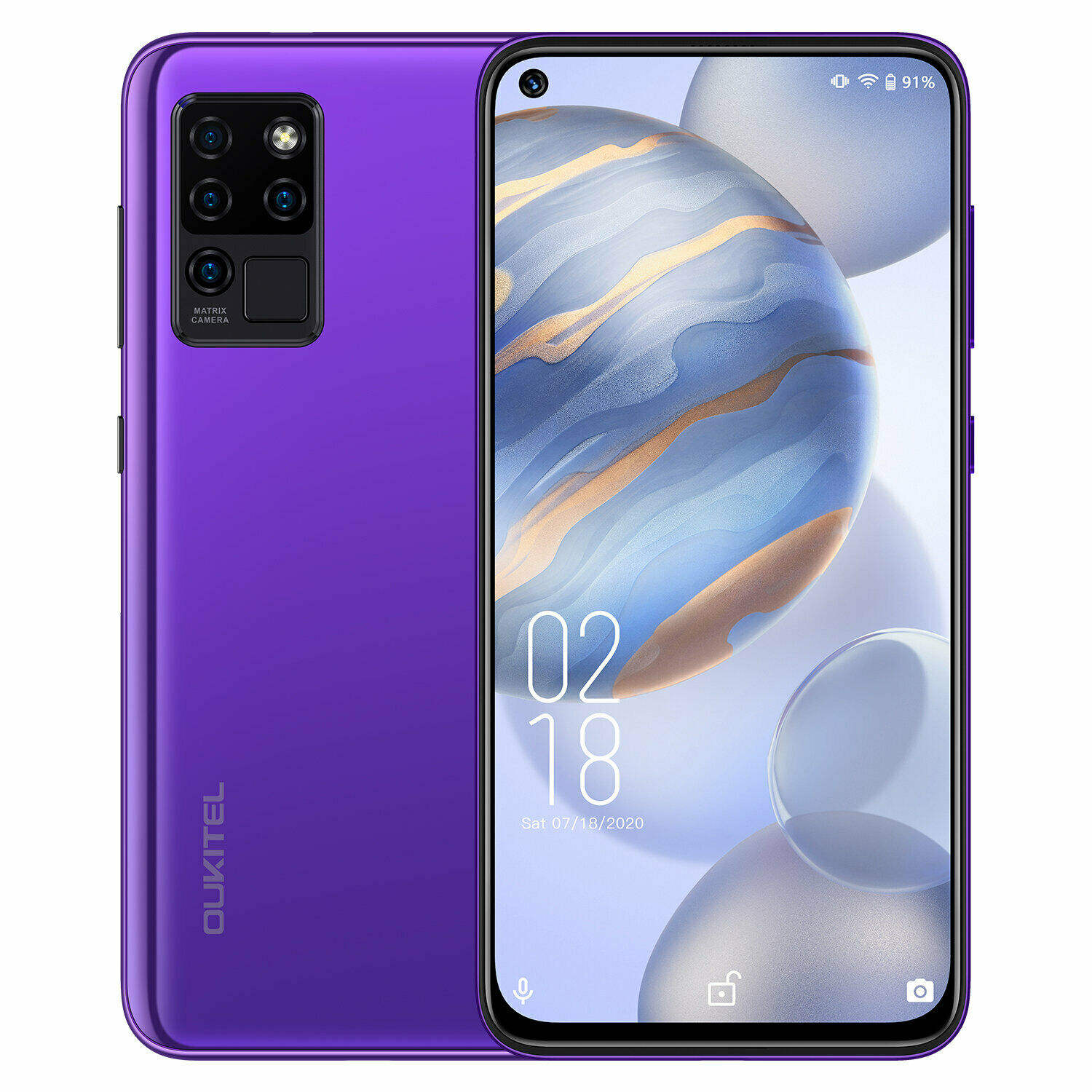 Hong Kong Magazijn Direct Sturen Oukitel C21 6.4 Inch 1080X2310 4Gb + 64Gb Android 10.0 4G Mobiele <span class=keywords><strong>Telefoon</strong></span>