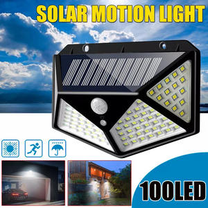 IP67 Achtertuin 100LED Night Garden Wall Outdoor Zonne-energie Led Verlichting Lamp Power Waterdichte Led Motion Sensor Solar Light