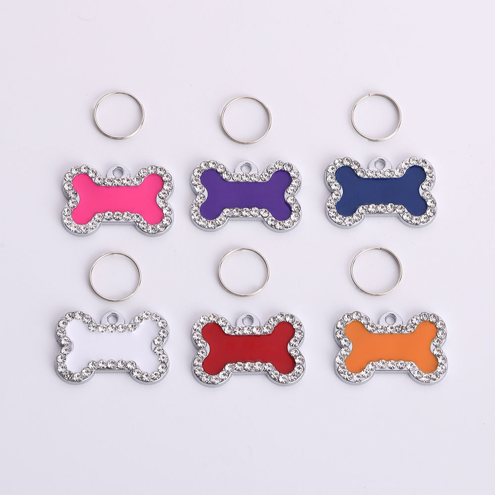 New Arrival Fashion Key Chain Pendant Drill Point Bone For Kids Colorful Pendant