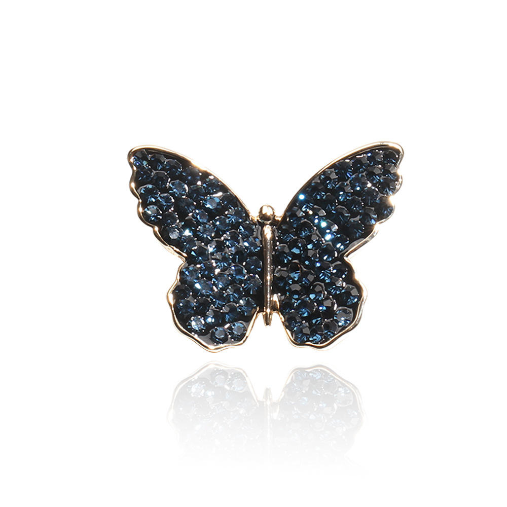 Latest Design Blue/Red Crystal Butterfly Brooch Pin for Women