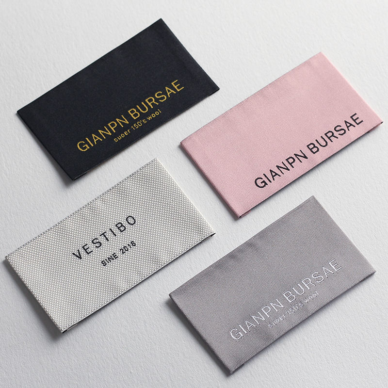 Customized Garment Cloth Fabric Damask Woven Labels