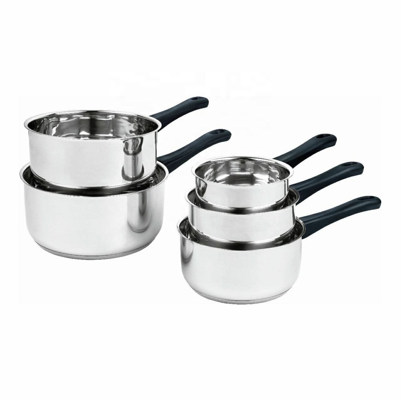 Factory Price 5 pieces stainless steel saucepan set cooking pots