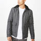 China Factory Custom Winter Plaid Zipper Front Cotton Jacket