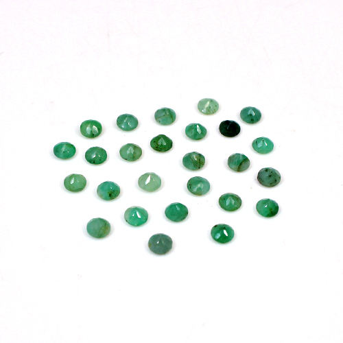 Natural Emerald 25 Pcs Roundel Faceted 4mm 6.20 Cts Wholesale Lot