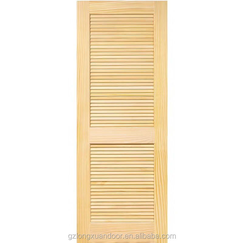 Prettywood Hawaii Hot Sale Hotel wooden shutter window and Solid Wooden Shutter Blind Louver Doors