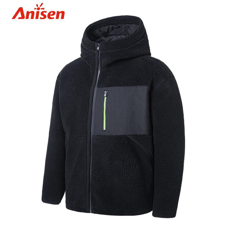 Winter wear Custom Fleece Men Jackets Outdoor Streetwear sport men jackets Formal Long Sleeve Sherpa Casual man Jacket