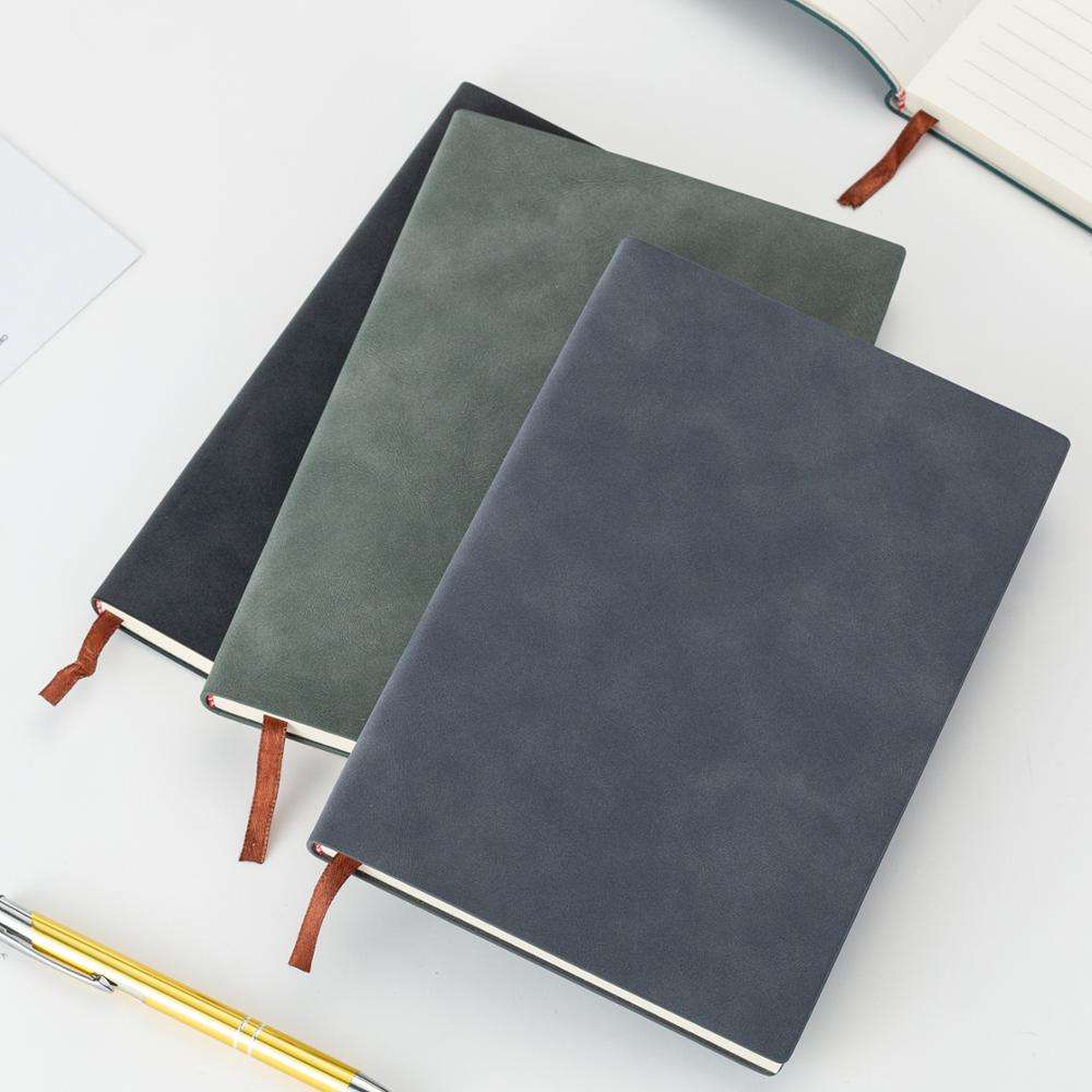 Handmade colorful customised notebook size pu leather notebook with ribbon personal travel journal soft leather diary notebook