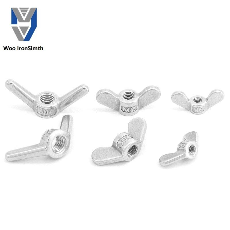 Supplier make polishing pop Stainless steel wing nuts manufacturer production standard Stainless steel wing nuts