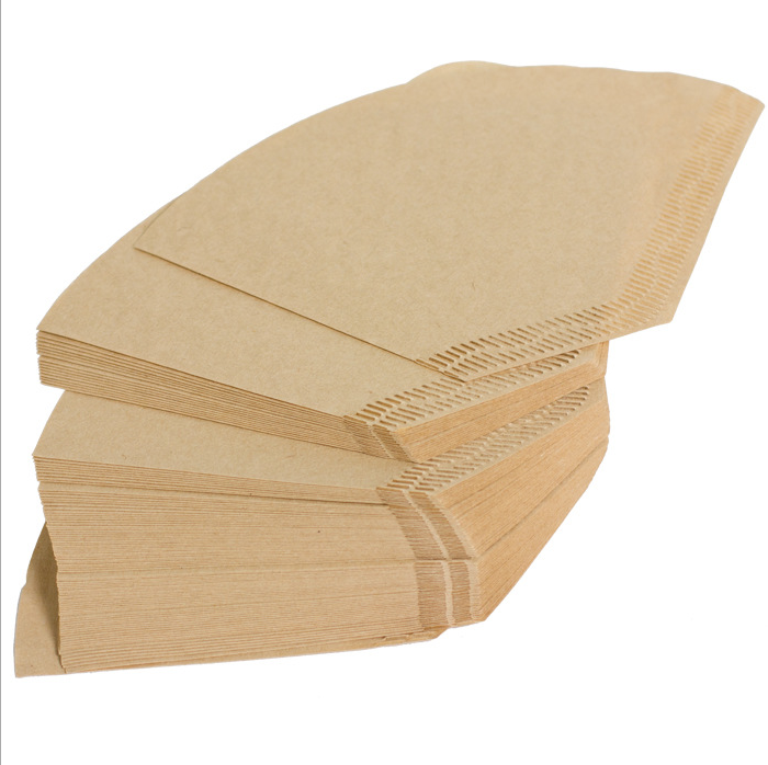 Natural bamboo/ wooden color coffee filtering paper/ Fan filter paper