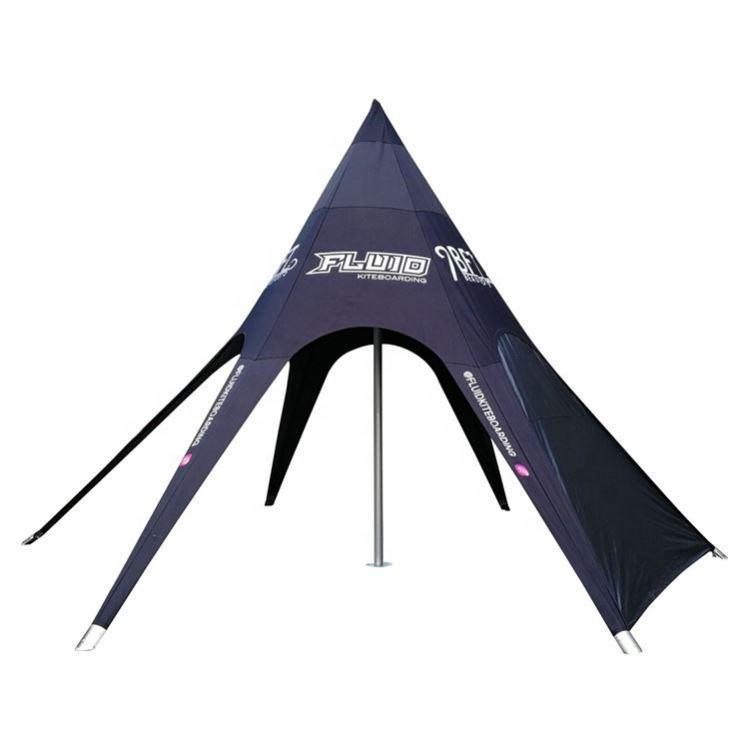 직경 14m H 6m 야외 싱글 피크 스타 텐트 로고 이벤트