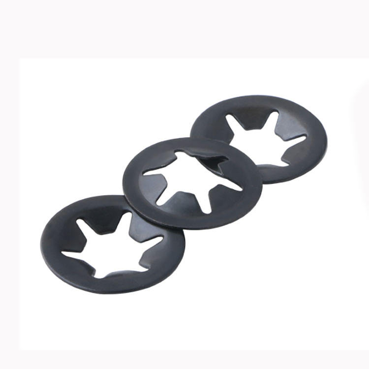 Carbon Steel Black Oxide Club Bearing Clip Ring Washer Star Toothed Lock Washer Retaining Starlock Washer for Shaft