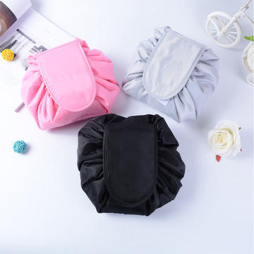 Wholesale Price Drawstring Round Pouch Cosmetic Makeup Bag Make Up Case Travel Bag Toiletry Bag