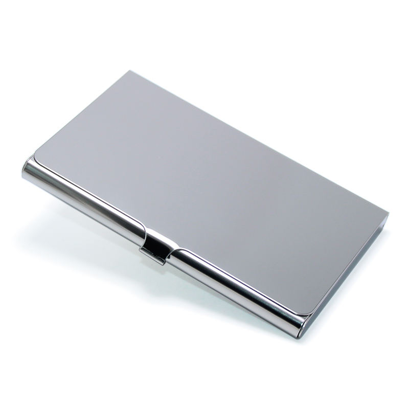 Wholesale Hot Sale Cardholder Various Styles Blank Metal Card Case Stainless Steel Bank Cards Box Name ID Business Card Holder
