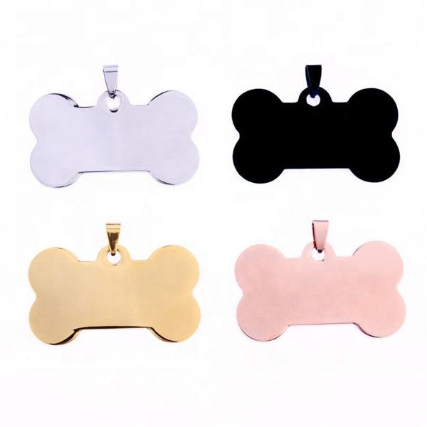 Yiwu Aceon Lowest Price Dog Custom Metal Tag Sublimation Printer Stainless Steel Pet Collar Bone ID Tag