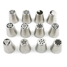Wholesale christmas halloween LFGB custom kitchen baking stainless steel cake piping tips icing nozzle set