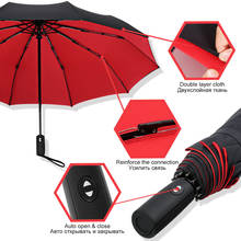 Windproof Double Automatic Folding Umbrella Female Male Ten Bone Large Business museum Umbrellas Men Rain Women Gift Parasol