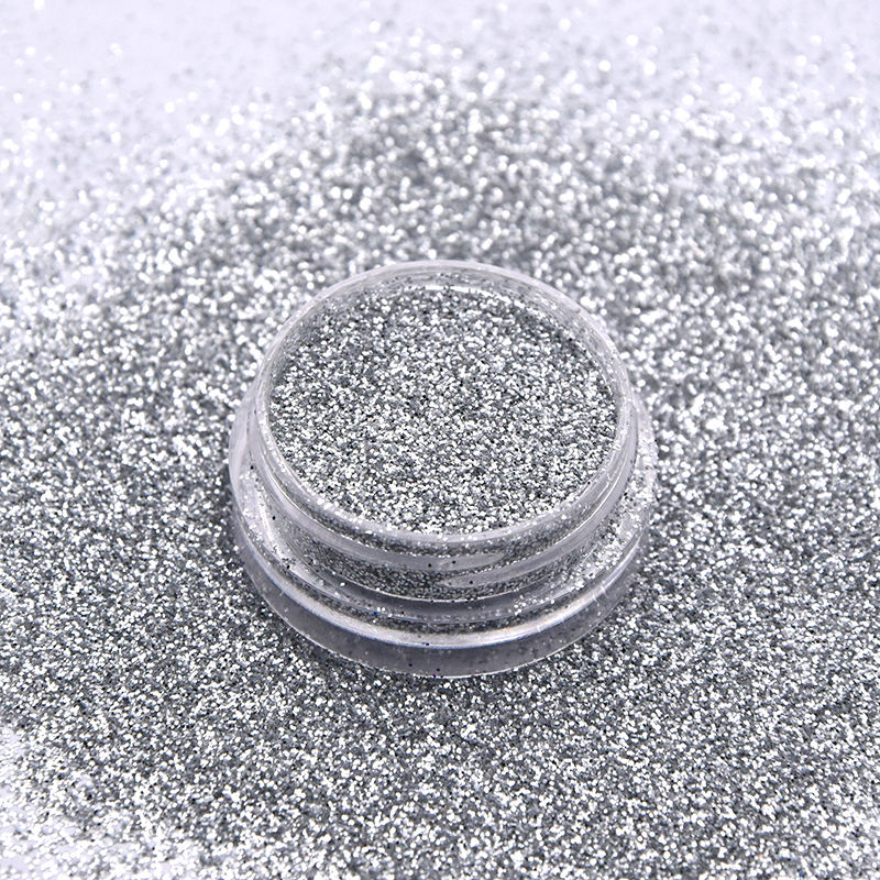 PET holographic laser solvent resistant nail glitter powder pressed glitter makeup
