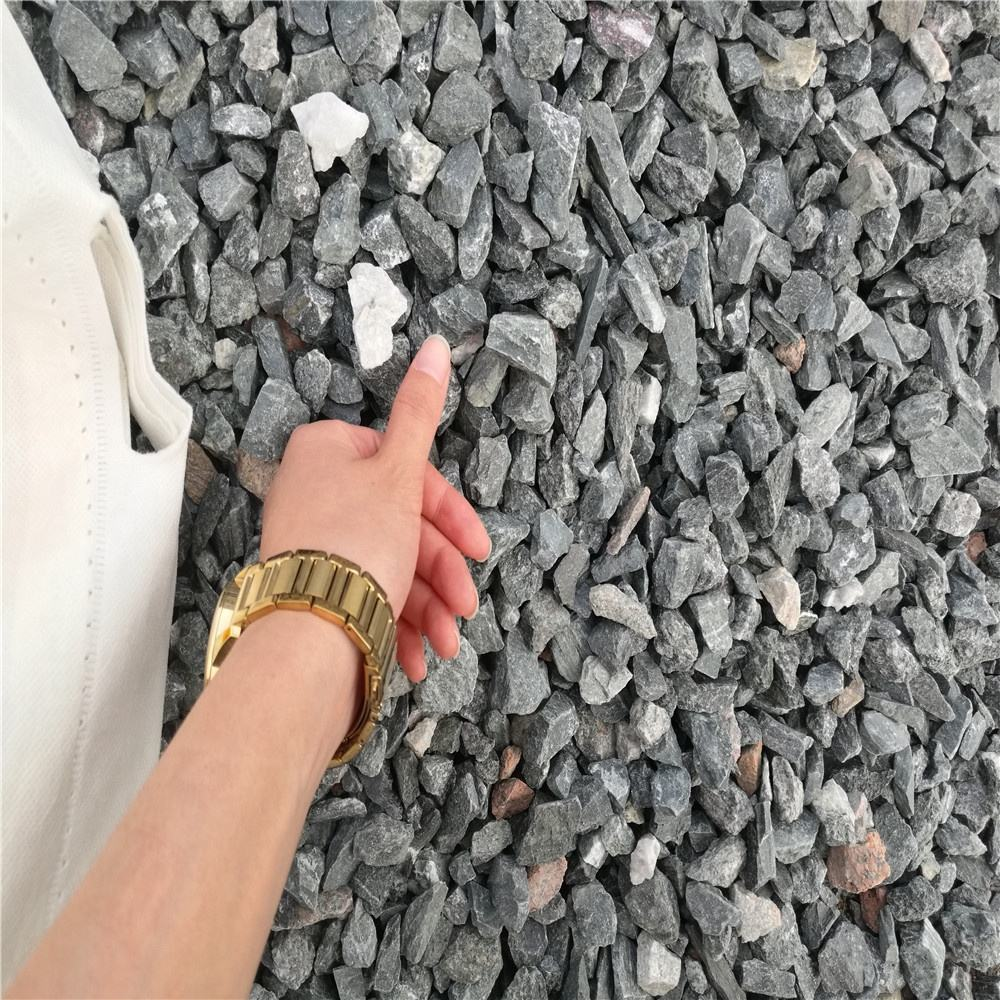 Grey granite Aggregate Item Granite Construction Crushed Gravel black crushed stone
