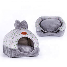 Saiweisi New Design Fabric Soft Small Animals Pet Cat Bed for Cats Dogs Cushion