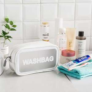 Pvc Makeup Clear Custom Holographic Travel Packaging Large Transparent Cosmetic Bag