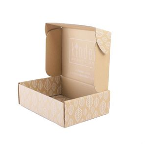 Custom Printed logo coffee packing Corrugated box packing carton Work home packing products