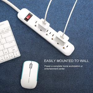 Eua 6 outlets charger power plug tomada tira