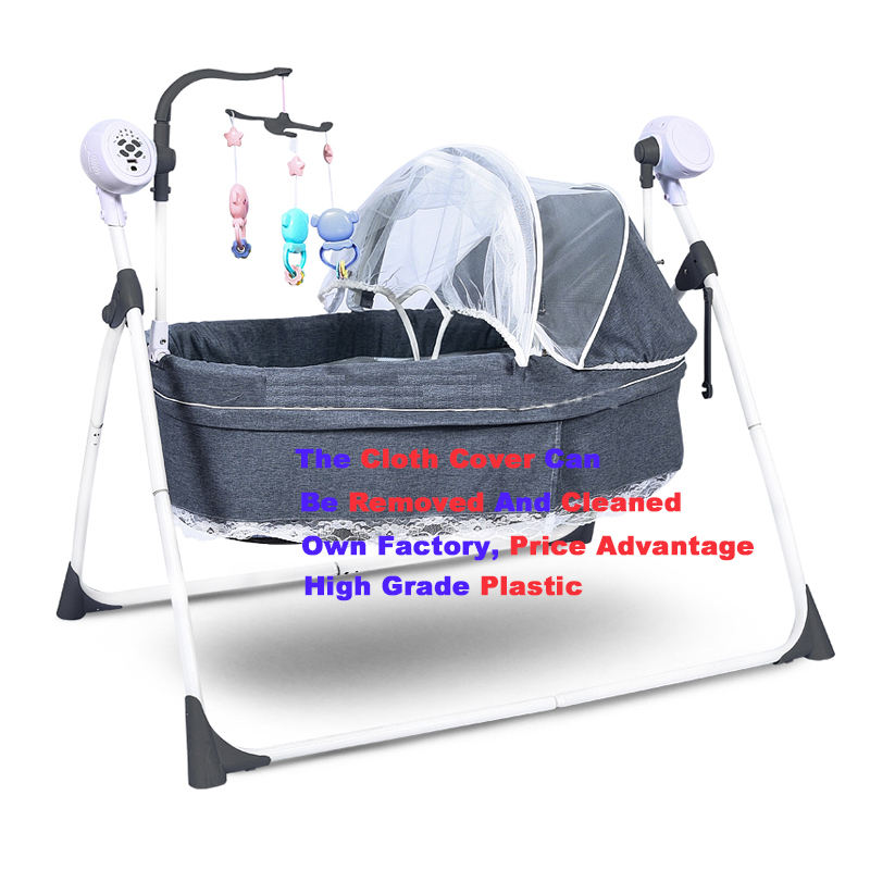 China high quality and cheap baby swing bed 303 baby electric cradle swing