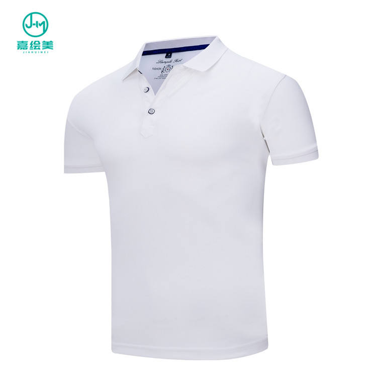 JHM Various Wholesale White Business Golf Polo Shirts Unisex 100% Flax Fiber