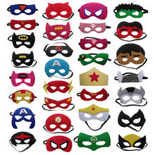 Kid Party Supplies Party Favors Masks Masquerade Cosplay Masks Birthday Gifts Halloween Cosplay Super Hero Felt Mask